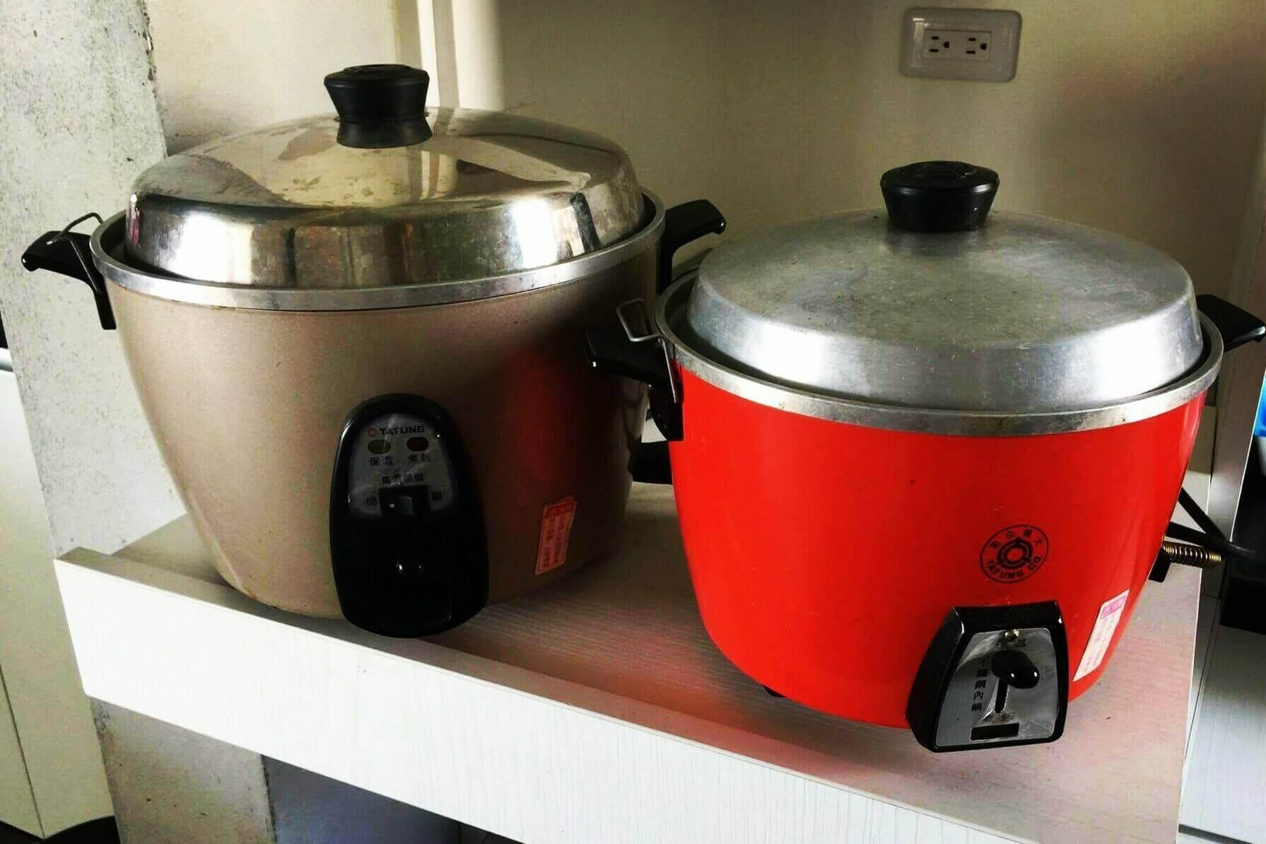 開放式廚房提供大同電鍋,方便您為寶寶準備副食品