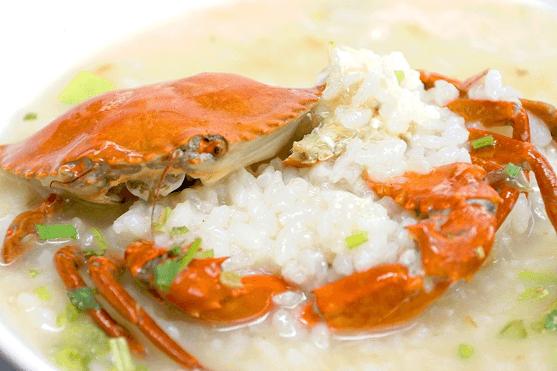 阿美深海鮮魚湯的厲害螃蟹粥